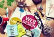 Leinwandbild Motiv Web Design Content Creative Website Responsive Concept