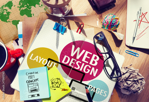 Web Design Content Creative Website Responsive Concept - 78615161