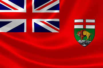 Manitoba Provincial Flag of Canada