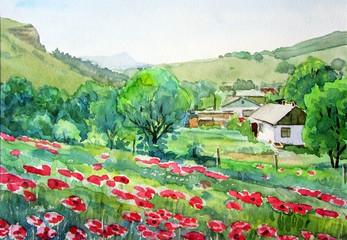 Весна в деревне.