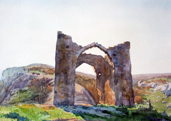 Ворота древней крепости.