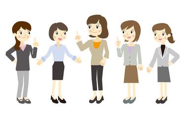 女性だけのビジネスチーム