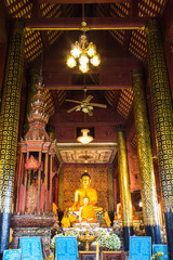 Old Buddha Statue In Chapel