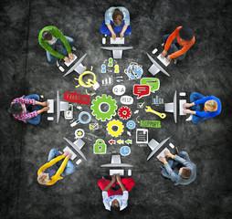 Team Teamwork Support Success Collaboration Cog Unity Concept