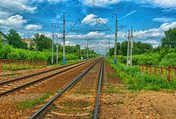 Railway tracks  rusty
