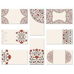 Set of floral business cards.