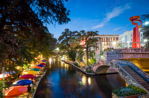 Foto op Canvas Verenigde Staten River Walk in San Antonio, Texas