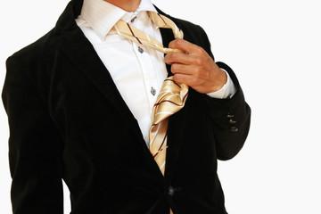 ネクタイを取る 起業や飲み会 Taking off a tie Start new buiness