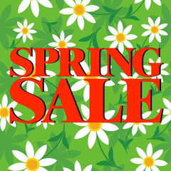 Spring Sale ,Beautiful colorful card