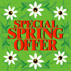 Special Spring Offer card ,Beautiful colorful