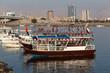 Boats on the creek in Ras Al Khaimah, United Arab Emirates - 78618526