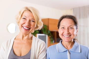 two happy mature women