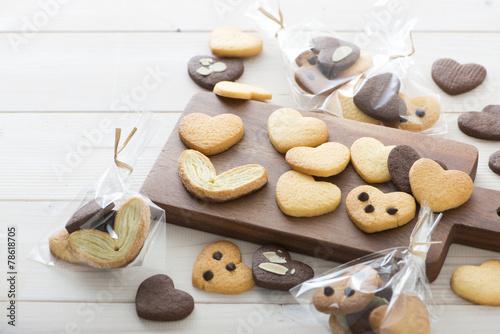 ハートのクッキー ラッピング