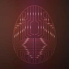 пасхальное яйцо в виде печатной платы