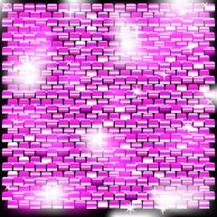Фон из блестящих квадратов с малиновым оттенком