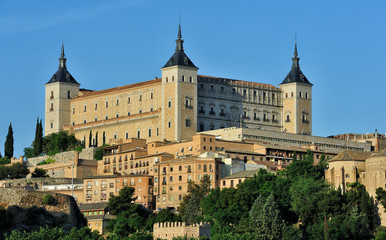 Alcazar and old part of Toledo, Spain