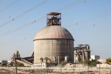 Cement factory building in Jebel Ali, Dubai, UAE