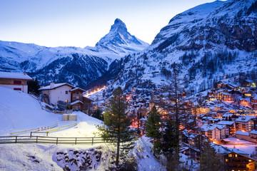 zermatt, switzerland, matterhorn, ski resort