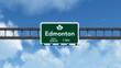 Edmonton Canada Transcanada Highway Road Sign