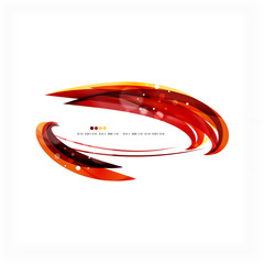 Red orange bright feather lines concept