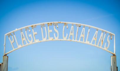 Marseille Beach Sign