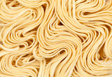 Raw asian ramen noodle texture