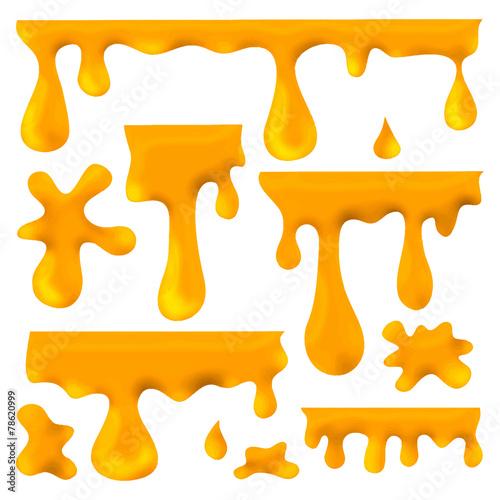 Fotobehang Vormen honey blots, splashes and smudges