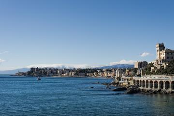 genoa coastal houses cityscape panorama