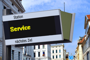 Anzeigetafel 7 - Service