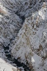 Yellowstone Canyon in winter
