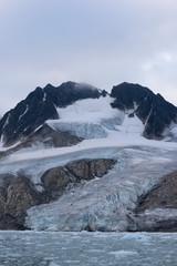 Mountain, glacier and sea