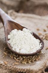 Portion of Spelt Flour (close-up shot)