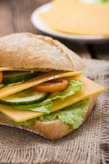 Fresh made Cheddar Sandwich