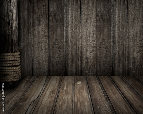 Old wooden scene as pirates theme background - 78622710
