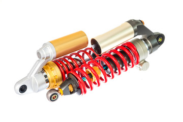 New red motorcycle suspension