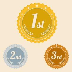 Various awards flat icons