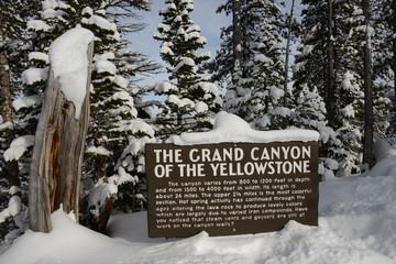 Yellowstone Canyon sign