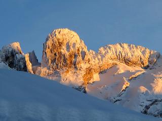 Frozen mountain top