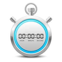 Stopwatch, Timer Icon + Numbers in the Vector File