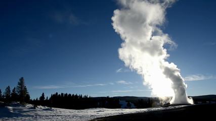 Geyser in winter