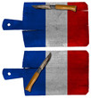 Cutting Boards with French Flag