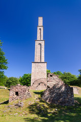 Alun factory tower and ruins on Oland island