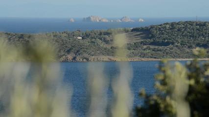 Windy landscape of Corsica