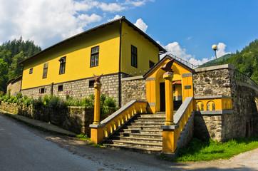 Entrance to 13th century Rača monastery
