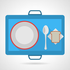 Colored vector icon for food tray