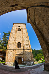 Architecture and towers of 13th century Rača monastery