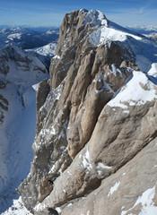 Marmolada, the highest peak of the Dolomites, Italy