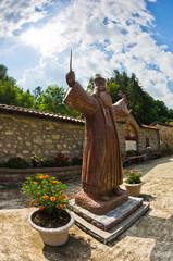Hadzi Milentije statue, uprising leader against Ottoman empire
