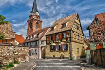 Haut Rhin, village of Bergheim  in Alsace