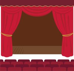 劇場、舞台のシンプルな素材
